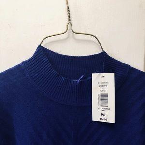 Womens cobalt blue Sweater. Size small. BRAND NEW